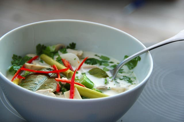 soup recipe Thai tom kha gai